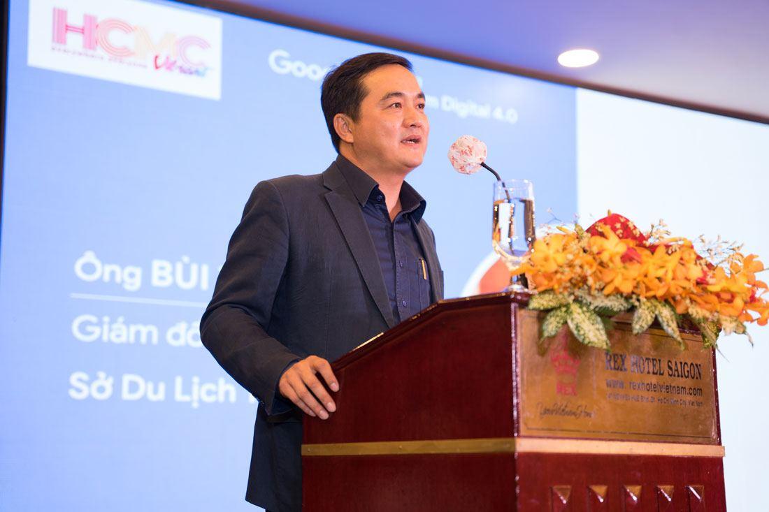 Giám đốc Sở Du lịch TPHCM phát biểu